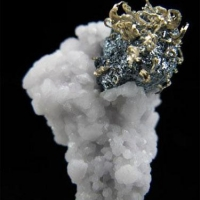 Acanthite Native Silver & Pyrite