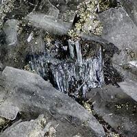 Bismuthinite Terrywallaceite Baryte & Tennantite
