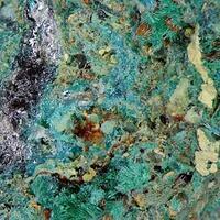 Beaverite-(Cu) With Caledonite Malachite & Beudantite