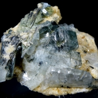 Adularia With Tourmaline