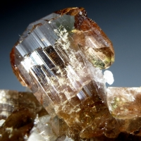 Axinite With Calcite