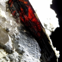 Brookite With Quartz