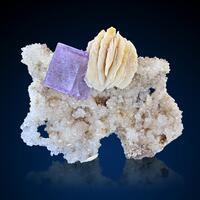 Fluorite & Baryte On Quartz