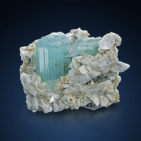 Aquamarine With Feldspar & Muscovite