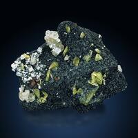 Titanite Apatite Pericline & Pyrite On Chlorite