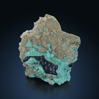 Malachite & Chrysocolla & Calcite