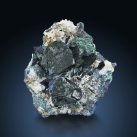 Azurite With Malachite & Cerussite