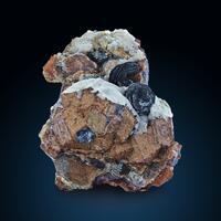 Andradite With Quartz & Hematite