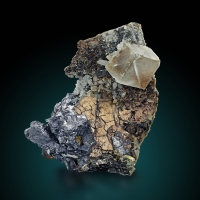 Fluorite On Pyrrhotite With Galena Quartz & Chalcopyrite