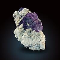 Fluorite With Smoky Quartz & Feldspar