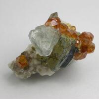 Fluorite Spessartine Muscovite Smoky Quartz & Microcline