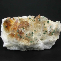 Malachite On Calcite