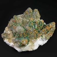 Malachite Calcite & Goethite Psm Chalcopyrite