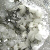 Dickite Calcite & Chalcopyrite On Dolomite