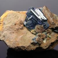Azurite & Bromian Chlorargyrite
