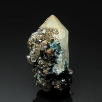 Lazulite & Wardite On Quartz