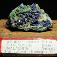Azurite On Chalcocite