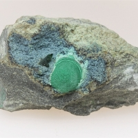 Libethenite With Malachite