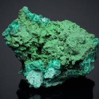 Dioptase Psm Calcite With Malachite