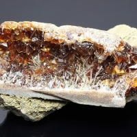 Calcite & Natrolite Psm Wood