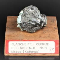 Plancheite With Cuprite & Heterogenite