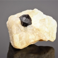 Almandine In Calcite