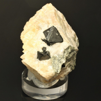 Spinel On Calcite & Forsterite