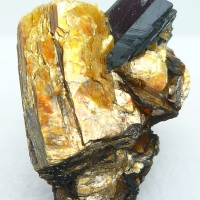 Niobophyllite & K Feldspar
