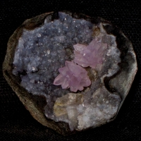Amethyst With Chabazite & Chalcedony
