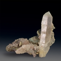 Rock Crystal With Calcite