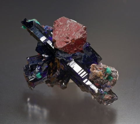 Mineral Images Only: Azurite & Cuprite