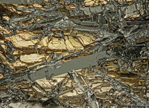 Mineral Images Only: Bismuth & Bismuthinite With Ikunolite