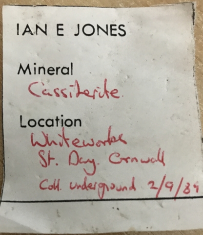 Label Images - only: Cassiterite