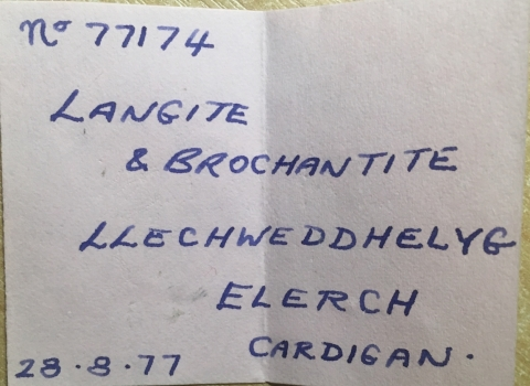 Label Images - only: Langite & Brochantite