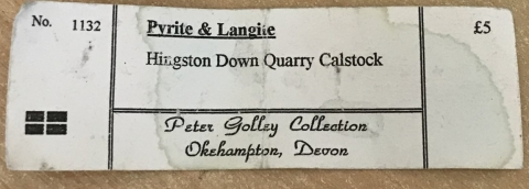 Label Images - only: Pyrite & Langite