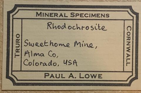 Label Images - only: Rhodochrosite Tennantite & Quartz