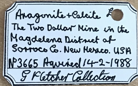 Label Images - only: Aragonite & Calcite
