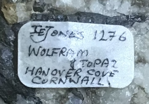 Label Images - only: Wolframite & Topaz