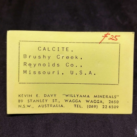 Label Images - only: Calcite With Chalcopyrite & Galena