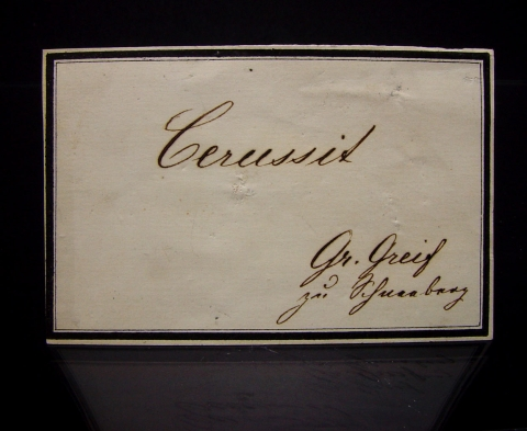 Label Images - only: Cerussite On Galena