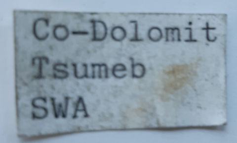 Label Images - only: Cobaltoan Dolomite