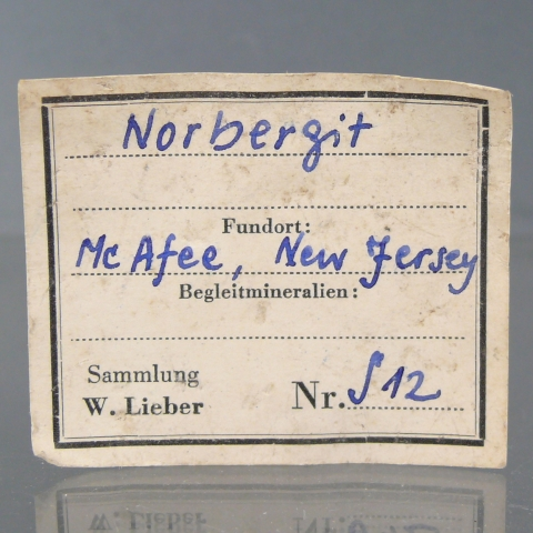 Label Images - only: Norbergite