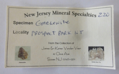 Label Images - only: Gmelinite