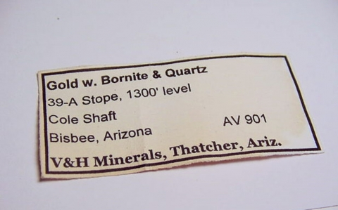 Label Images - only: Gold & Bornite