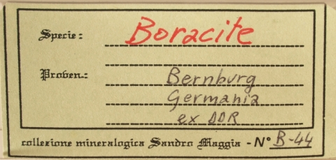 Label Images - only: Boracite
