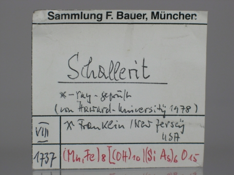Label Images - only: Schallerite