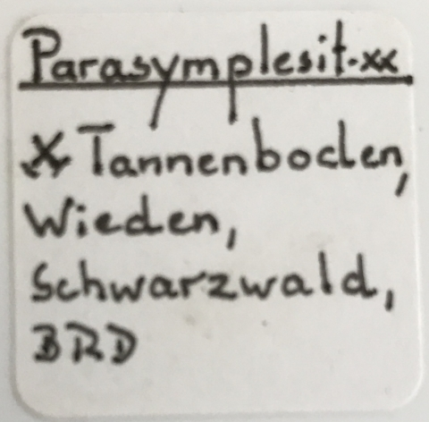 Label Images - only: Parasymplesite & Siderite