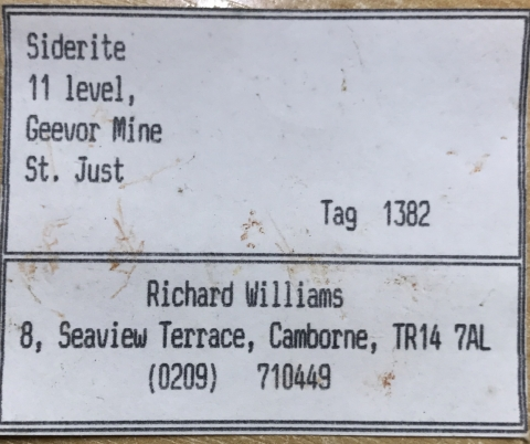 Label Images - only: Siderite & Thuringite