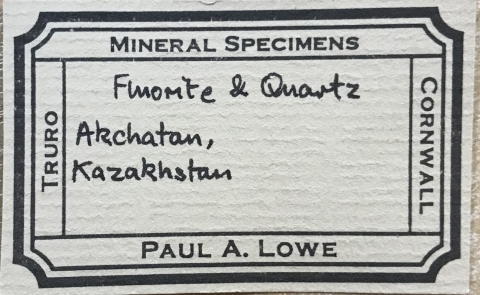 Label Images - only: Fluorite & Quartz