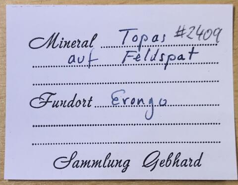 Label Images - only: Topaz On Feldspar